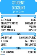 Student discount infographic for Edvisors